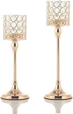 TONSEE Handmade Mosaic Glass Candlestick Wedding Party Ornaments