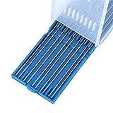 Varillas para soldar, Lantanum electrodos de tungsteno baja temperatura tig 10pcs / caja de soldadura electrodos varas 1.0/1.6/2.4mm Soldadorización conjunto (Diameter : 1.6 x 150mm)