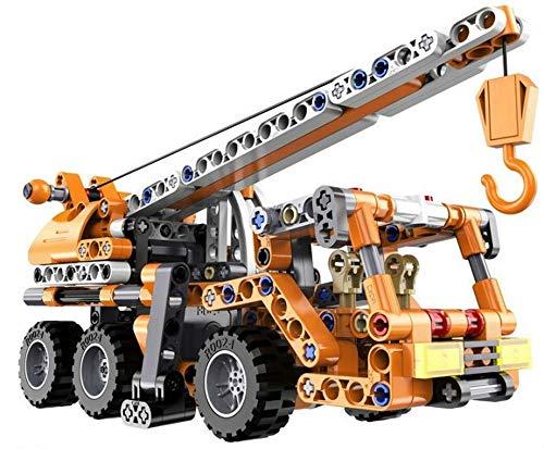 Grúa de ingeniería para vehículos con bloques de construcción LTM, grúa móvil para camiones, juguete de construcción, 272 piezas
