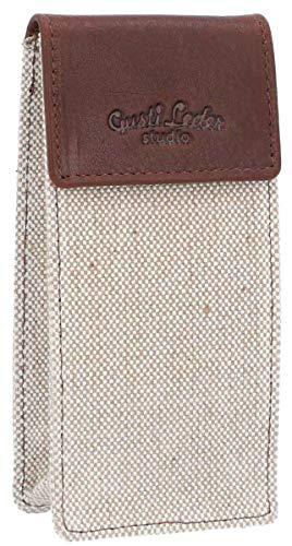 Gusti Leder 'Baranabas' E-Zigaretten Tasche Schutzhülle für Liquid Flaschen Utensilientasche Braun Leder