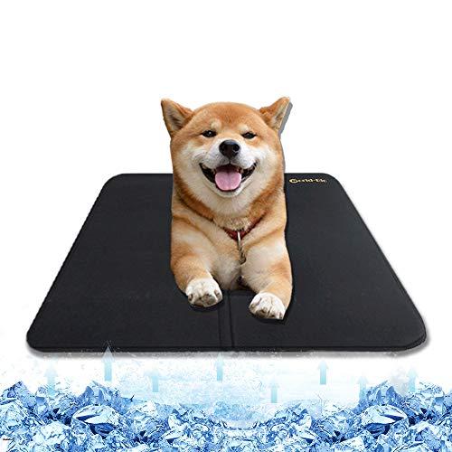WORLD-BIO Colchoneta de refrigeración para Perros, colchón de frío Lavable para Cachorros, Cojines para Gatos para la Perrera, Cajas y Camas de Verano - 25,9'' x 22,4''