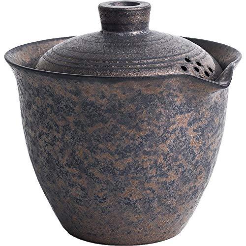 AFGH Tetera Tetera de cerámica Japonesa Gaiwan Retro Chinese Kung Fu Tetera 200ml