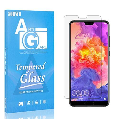 Displayschutzfolie Kompatibel mit P20 Pro, SONWO HD Panzerglas Schutzfolie für Huawei P20 Pro Gehärtetes Glas Schutzfolie, 4 Stück