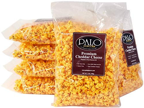 Palo Popcorn Premium Cheddar Popcorn, 7 ounce bag (Pack of 6)