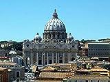 Awttmua Puzzles 1000 Piezas Puzzles Basílica De San Pedro, Plaza De San Pedro, Ciudad del Vaticano para Niños Y Adultos Regalo del Festival
