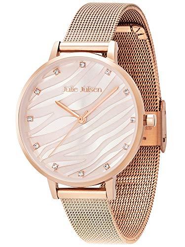 Julie Julsen JJW1200RGME Wave Rosé Mesh - Reloj de pulsera para mujer, cuarzo, color rosa