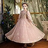 SUNXC Niñas Disfraces de Princesa, Falda de Princesa Disfraz de Rendimiento de Hilo Esponjoso-One Kind_120 cm,Niño Cumpleaños Fiesta Vestido de Princesa