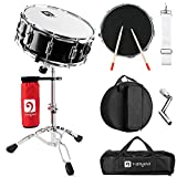 Vangoa Snare Drum Set, Student Snare Drum Kit with Stand, Drum Mute Pad, 5A Drum Sticks, D...
