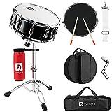 "Vangoa Snare Drum Set, Student Snare Drum Kit with Stand, Drum Mute Pad, 5A Drum Sticks, Drum Keys, Sticks, 14""X 5.5"""