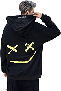 SLTX Mens Casual Funny Hoodies Color Block Fashion Sweatshirt