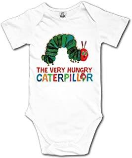 Caterpillar The Very Hungry Baby's Boy's/Girl's Short Sleeve Comfortable One Piece White