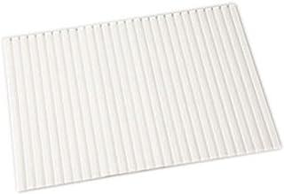 アイリスオーヤマ 風呂ふた 防カビ・はっ水 シャッター式 約80×140cm パールホワイト HFG-8014