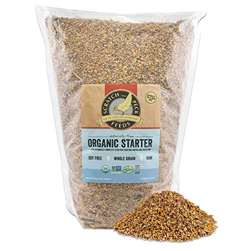 Scratch and Peck Feeds Naturally Free Organic Starter Feed for Chickens and Ducks - 10-lbs - Non-GMO Project Verified, Soy Free and Corn Free - 2002-10