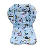 High Chair Pad,highchair Seat Cushion/Breathable Pad,Soft and Comfortable, Light and Breathable, Cute Patterns, Make The Baby More Comfortable (Blue Background Jungle Animal Pattern)