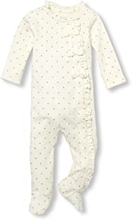 The Children's Place Baby Girls Polka Dot Bow Footie