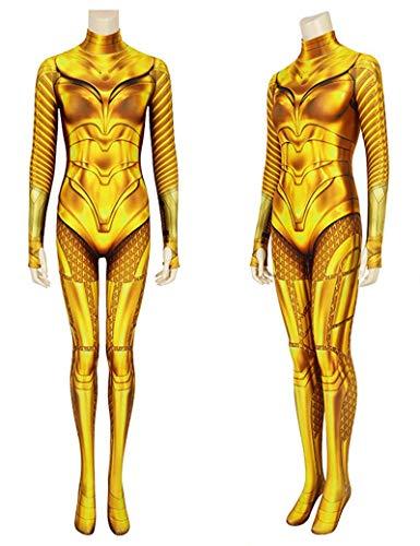 CXYGZLJ Wonder Woman Woman Gold Battle Armor Body, Mujeres Onesies Anime Game Cosplay Nios Performance Jumpsuit Ajustado,XXL 180~185cm