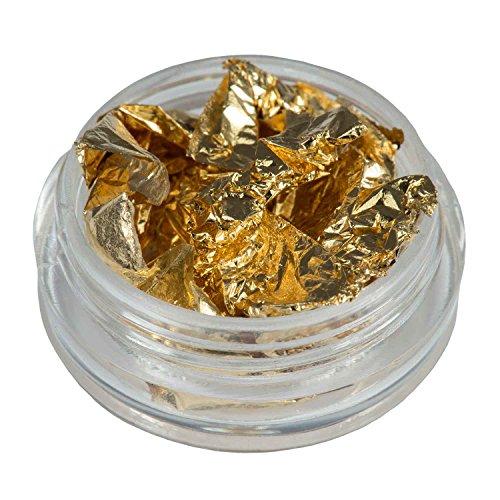 N&BF Nail Art Nagelfolie, goudkleurig, metallic glitter toverfolie | nageldesign folie voor nagelpunten | glitter chroomfolie voor gel & acryl modellering | Transfer nagelfolie | flinterdunne transferfolie