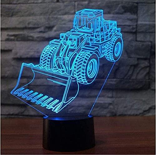 Coche 3D luz de noche 3D 7 colores cambiador de luz bombilla de luz para bebés iluminación para dormir para niños regalos