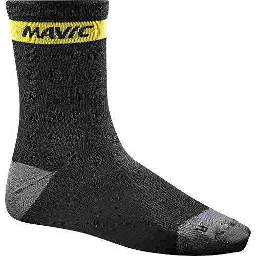 Mavic - Ksyrium Merino Sock, color negro, talla EU 43-46