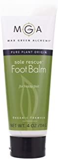 Sole Rescue Foot Balm Tube (4 Ounce Tube) - Organic Formula, Soothes Moisturizes Dry, Itchy and Sore Feet, Cracked Heels, Non Greasy, Vegan