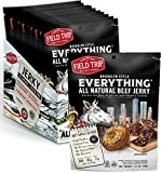 Field Trip Beef Jerky | Gluten Free Jerky, Low Carb, Healthy High Protein Snacks With No Nitrates, Made With All Natural Ingredients | Everything Bagel | 1oz Bags, 12 Pack