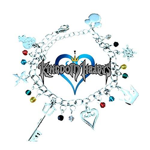 Kingdom Of Hearts (10 encantos tematicos) Pulseira de Encanto metalico variado