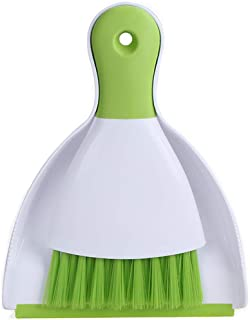 Dust Pan and Brush, Kmeivol Mini Hand Broom and Dustpan Set, Dust Pan Brush Nesting Tiny Cleaning Broom, Dust Pan and Brush Set for Table, Desk, Countertop, Key Board, Cat, Dog and Other Pets, Dustpan