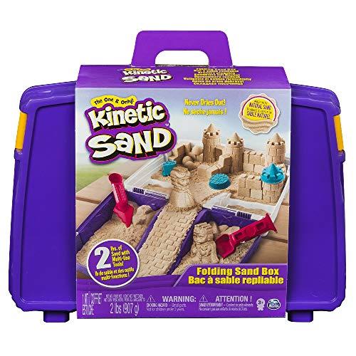 Kinetic Sand, Valigetta Sempre con Te, 900 g di Sabbia Modellabile, dai 3 Anni