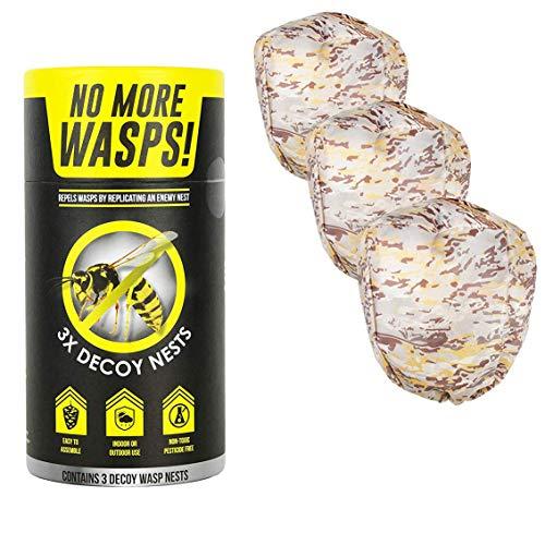 Luigi's - Künstliches Wespenneste - 3pcs - Mittel gegen Wespen, um die Wespen zu vertreiben ohne Giftstoff