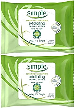 Simple Exfoliating Wipes 25 Count  Pack of 2
