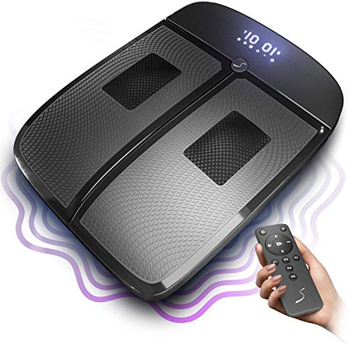 VX350 Plataforma Vibratoria y Masajeador de Pies - Vibración & Masajeador para Casa y Oficina - Alivia el Dolor y Vigoriza los Pies Cansados - 5 Programas & 20 Niveles - Previene las varices