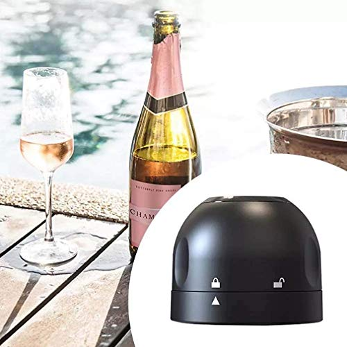 MFAWF Tapón de champán de 2 Piezas, tapón de Botella de Vino Sellado de Silicona, Cierre de Botella espumoso al vacío, Accesorios de champán