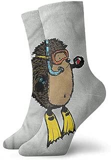 Short Socks Women Sport Red Fox with Petals Pattern Funny Socks