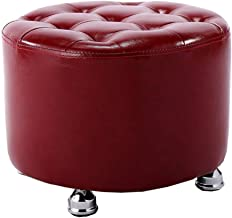 Yxsdd Stool Stool Red Change Shoes Fashion Stool Creative Sofa Bench Wear Sitting Shoes Pier Dressing Solid Stool Short Wo...