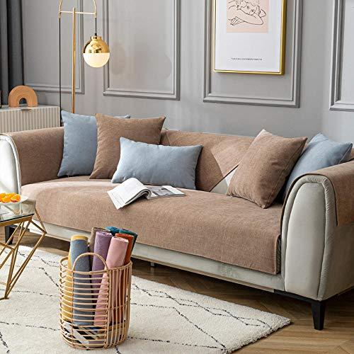 Modernas fundas de sofá cama, chenilla premium, funda de sofá de tela antideslizante, funda universal para sofá para oficina, sala de estar, café, 70 x 180 cm