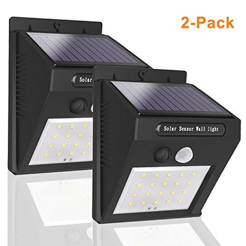2 Lampade Solare Esterno con Sensore di Movimento, mocobe Luci Solari Giardino Faretti a LED Lampada Wireless Impermeabile da Esterno per Vialetto, Cantiere, Grage, Percorso e Patio (2-Pack)