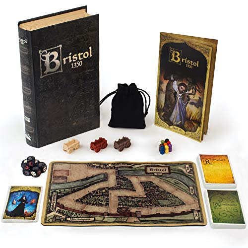 Bristol 1350 Board Game of Strategy, Deceit, and Luck for 1-9 Players