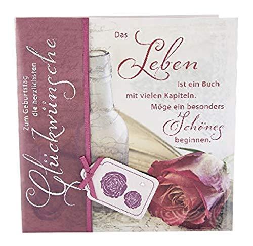 Depesche 4907.022 Glückwunschkarte Emotions in edlem Design, Geburtstag, Mehrfarbig