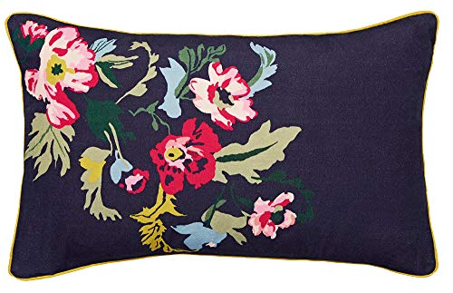 Joules Cambridge Garden Floral Cushion, French Navy, 30 x 50 cm