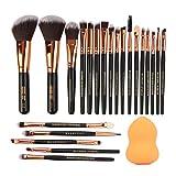 Aibada - Brochas de maquillaje sintéticas para difuminar colorete, delineador de ojos, sombra de cejas, corrector de labios
