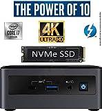 Intel NUC NUC10i7FNH1 Mini PC/HTPC, Six-Core i7- Up to 4.7GHz, 64GB DDR4-2666 RAM WiFi, BT 5.0 Thunderbolt 3, 4K Support, Triple Monitor Capable (64GB RAM + 500GB Premium NVMe M.2 SSD)