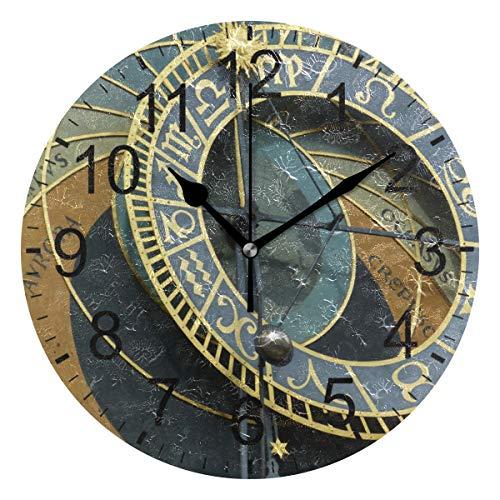 SENNSEE Reloj astronómico Praga reloj de pared decorativo sala de estar dormitorio cocina funciona con pilas reloj redondo para decoración del hogar arte