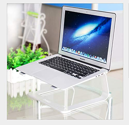 FENGT Laptopstandaard, koelbox van aluminium, draagbare laptopkoeler voor MacBook, Apple, laptop, tablet