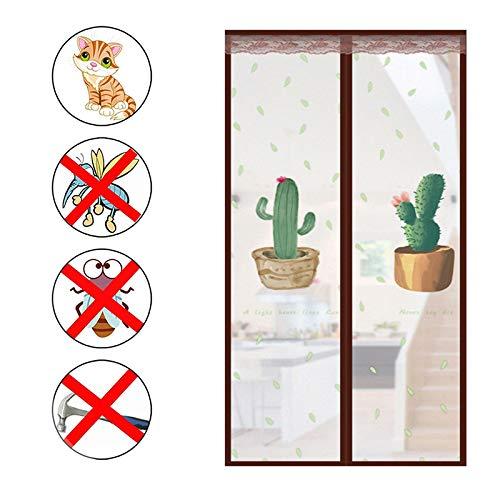 Plástico Eva Cortina De Puerta,anti Humo Viento Magnética Cortina De Puerta,cierre Automático Cortina De Insectos Para Dormitorio Anti Mosquito Cortina A 100x215cm