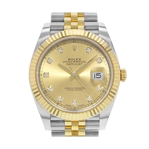 Fashion Shopping Rolex Datejust 41 Champagne Diamond Steel and 18K Yellow Gold Jubilee Men's