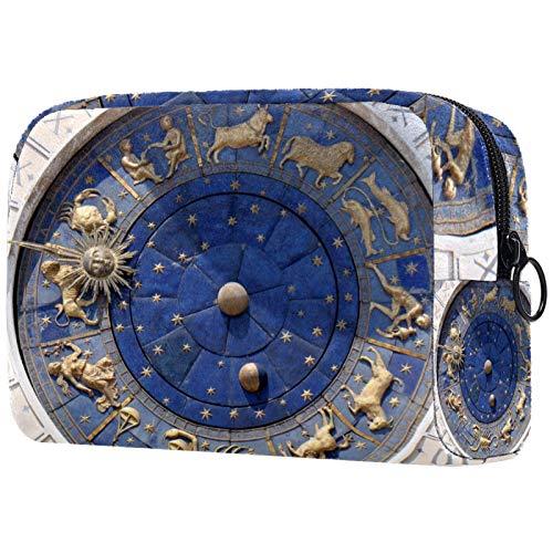 Neceser de viaje, bolsa de viaje impermeable, bolsa de aseo para mujeres y niñas, reloj Venecia Arquitectura Monumento