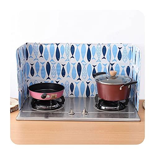 liangzishop 2 Piezas pequeñas Peces Anti Salpicadura Protector de protección, Barrera de Aceite a Prueba de Salpicaduras de Aluminio Resistente a Aluminio de Alta Temperatura Cocina de Cocina