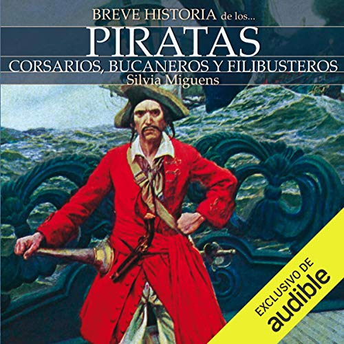 Diseño de la portada del título Breve historia de los piratas