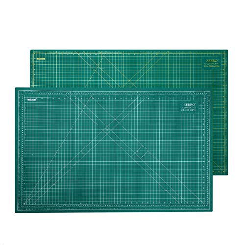 "ZERRO Self Healing Cutting Mat 24"" x 36"",Professional Double Sided Durable Non-Slip Rotary Mat for Scrapbooking, Quilting, Sewing-3mm Thick"