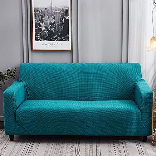 Topashe Funda de Sofá Elástica Punto,Funda de sofá con Todo Incluido, Funda de sofá Simple-Green_145-185cm,Sillón Elastano Fundas de Sofá